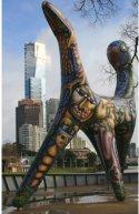 Melbourne Australia Yarra River Art