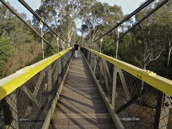 Suspension Bridge over the Yarra at Tempelstowe