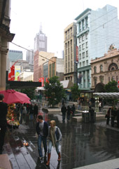 Bourke Street Mall Melbourne