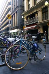 Bikes in Flinders Lane Melbourne