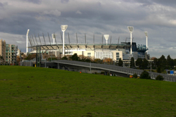 MCG Melbourne in autumn light