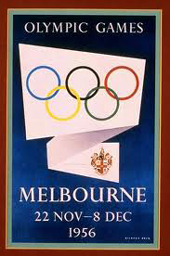 Melbourne Olympic games poster