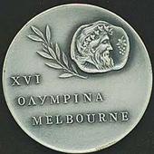 1956 summer olympics medal