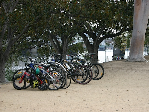 Bikes at Birrarung Marr