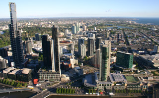 View from Melbourne Observation Deck