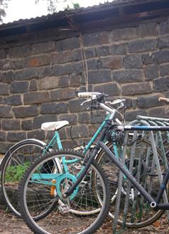 bike stands at Ceres, Melbourne
