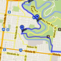 Yarra Trail Map