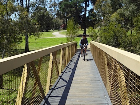 Bridge along the Merri Creek Trail in Coburg