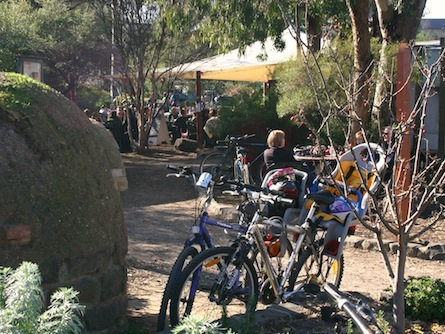 Bike stop at CERES environmental park