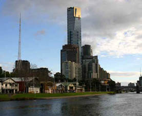 Melbourne Southbank and Yarra river