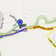 Lilidale Warburton Rail Trail Map