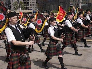 AFL Parade Melbourne - marching band