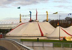 Circus Oz Tent at Birrarung Marr Melbourne