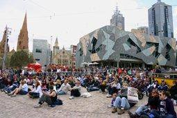 Melbourne Federation Square AFL event