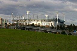 MCG Melbourne in autumn light