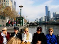 Melbourne river cruise at Southbank