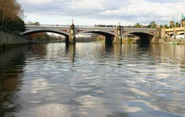 Yarra River and Princess Bridge Melbourne, Australia