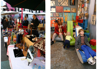 Stalls at Rose Street Artists Market Fitzroy Melbourne