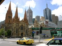 St Pauls Cathedral, Federation Square, Melbourne
