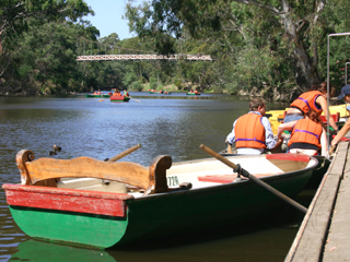 Row Boats at Studley Park Boathouse